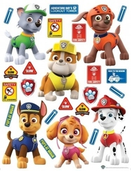 Naklejka paw psi patrol rubble