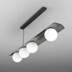 Aqform :: lampa wisząca modern ball czarna biały klosz szer. 120 cm