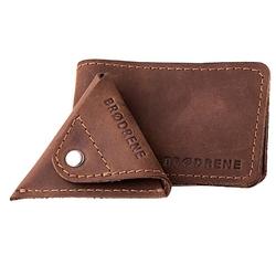 Skórzany zestaw portfel i bilonówka brodrene sw02 + cw01 ciemnobrązowy - c. brązowy