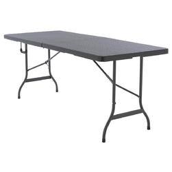 Składany stolik imprezowy w kolorze antracytowym z rączką 180 cm