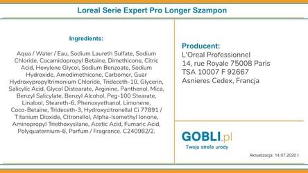 Loreal pro longer szampon do długich włosów, wzmacnia i pogrubia 1500 ml