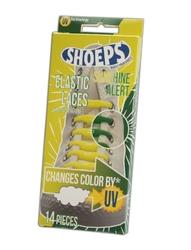 Shoeps - silikonowe sznurówki dla dzieci i dorosłych - żółte zmieniające kolor