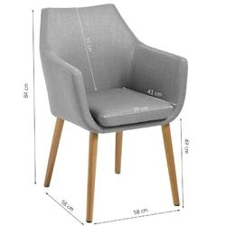 Krzesło z podłokietnikami neira skandynawskie