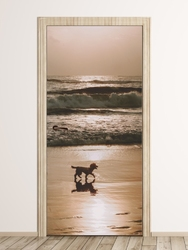 Fototapeta na drzwi spacer nad morzem fp 6175