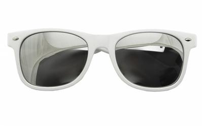 Białe okulary przeciwsłoneczne nerdy lustrzanki std-15