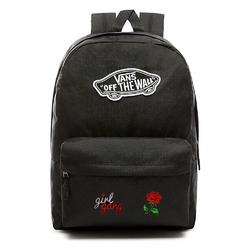 Plecak VANS Realm Backpack Custom Girl Gang Rose róża - VN0A3UI6BLK