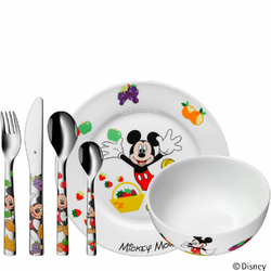 Myszka Miki - talerz, miseczka i zestaw sztućców dla dzieci WMF Disney 1282959964