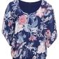 Shirt z nadrukiem bonprix niebieski w kwiaty