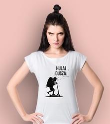 Hulaj dusza t-shirt damski biały s