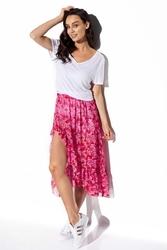 Długa spódnica z falbaną we wzory - druk 17