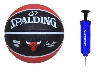 Piłka do koszykówki spalding teamball chicago bulls + pompka axer