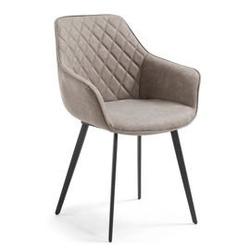 Krzesło z eko-skóry aminy beżowe