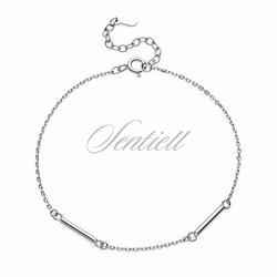 Srebrna pr.925 bransoletka łańcuszek i belki