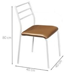 Krzesło do jadalni arlene brązowe
