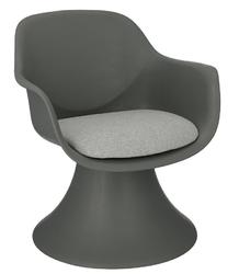 Designerski fotel z poduszką lollipop