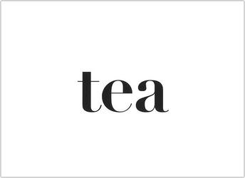 Plakat typograficzny tea 40 x 50 cm