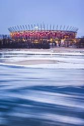 Warszawa śryżowy stadion narodowy - plakat premium wymiar do wyboru: 70x100 cm
