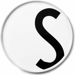 Talerz porcelanowy AJ litera S
