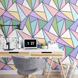 Triangle rainbow - tapeta na ścianę , rodzaj - tapeta flizelinowa