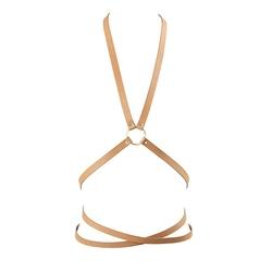 Uprząż oplatająca ciało - bijoux indiscrets maze multi position body harness brązowy