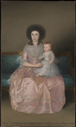 Reprodukcja portrait of countess of altamira and her daughter, maria agustina, francisco goya