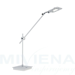 Lampa stołowa led chrom biały 64 cm
