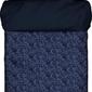 Pościel lavea niebieska 155 x 220 cm z poszewką na poduszkę 80 x 80 cm
