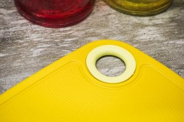 Practic deska do krojenia antypoślizgowa 24 x 16 cm żółta