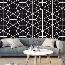 Geometric edge - tapeta na ścianę , rodzaj - próbka tapety 50x50cm
