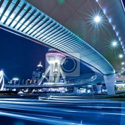 Obraz wgląd nocy chiny shanghai