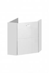 Szafka łazienkowa inka white wisząca narożna pod umywalkę 40 cm