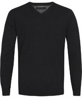 Czarny sweter  pulower v-neck z bawełny  xxl