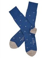 Stylowe niebieskie bawełniane skarpety falke dot w grochy rozmiar 43-46