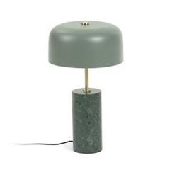 Kamienna lampa stołowa biscane 26x26 cm zielona
