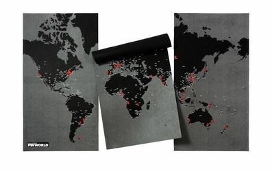 Dekoracja ścienna XL Pin World czarna