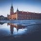 Zamek królewski odcienie chłodu - plakat premium wymiar do wyboru: 42x29,7 cm