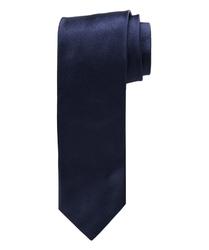 Granatowy satynowy jedwabny krawat profuomo