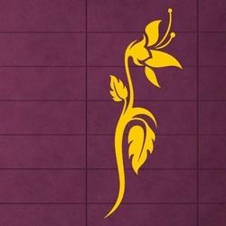 Szablon malarski kwiaty 0993