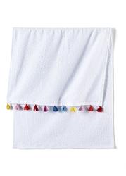 Ręcznik z kolorowymi chwostami 2 szt. bonprix biały