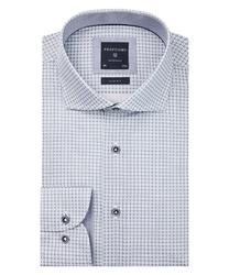 Biała koszula profuomo w geometryczny wzór slim fit 38
