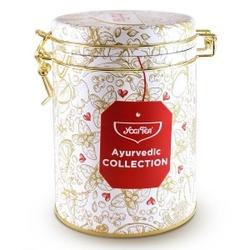 Zestaw herbaciany mix ayurvedic collection 30 saszetek herbaty w ozdobnej puszce bio yogi tea