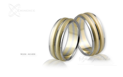 Obrączki ślubne - wzór au-409