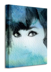 Lady in blue - obraz na płótnie