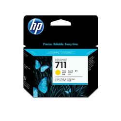 HP Inc. Tusz 711 29ml Yellow 3-Pack CZ136A