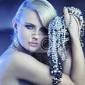 Obraz fantastyczny kobieta z bukietem jewelary