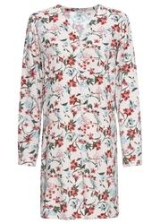 Długa bluzka w kwiaty bonprix pastelowy jasnoróżowy w kwiaty