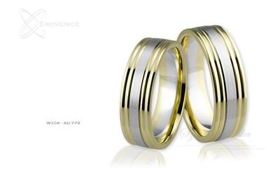 Obrączki ślubne - wzór au-779