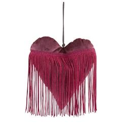 Dekoracja walentynkowa  ozdoba welurowa altom design zawieszka serce bordowe 20 x 18 cm