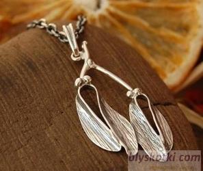 Jemioła - srebrny wisiorek