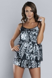 Italian fashion silver piżama damska